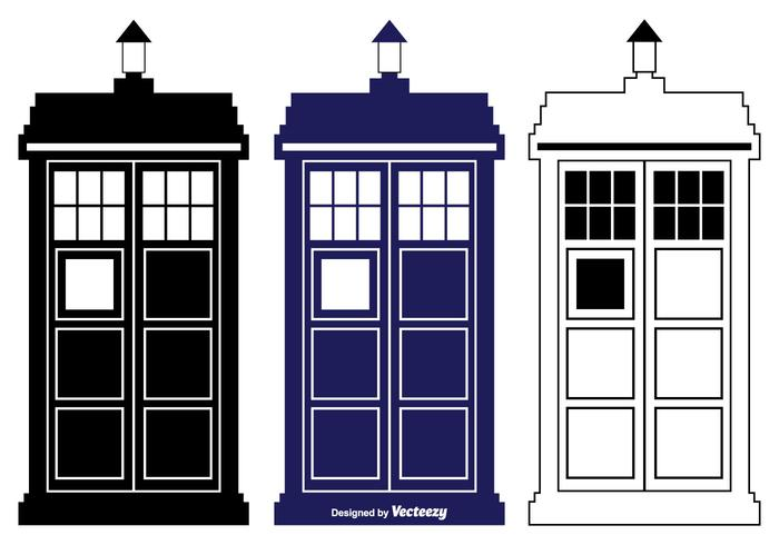 700x490 Tardis Vector Silhouette Shapes