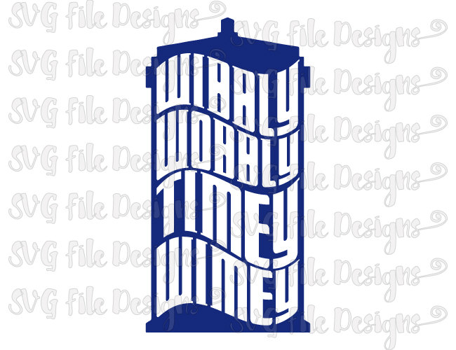 650x500 Wibbly Wobbly Timey Wimey Doctor Who Tardis Shirt Decal Cut File