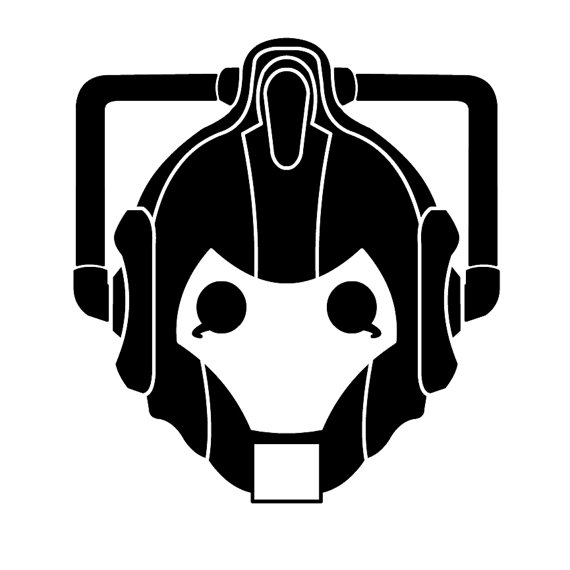 570x570 Cyber Man Decal Whovian Heart