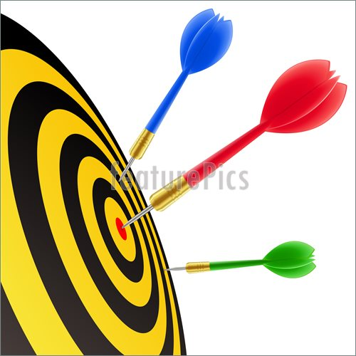 500x500 Hit The Target Clipart