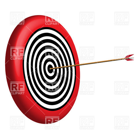 480x480 Round Target And Arrow Royalty Free Vector Clip Art Image