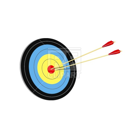 400x400 Target And Arrows Free Vector Clip Art Image