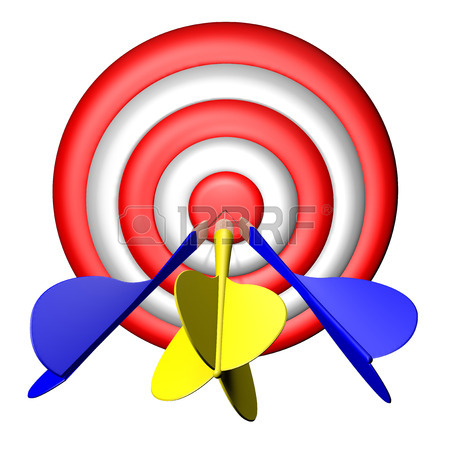 450x450 Darts Target Practice, Aiming Stock Photo, Picture And Royalty