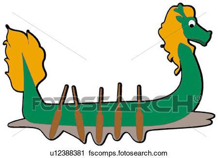 450x326 Clipart Of Lovable, Dragon Boat, Taste, Pretty, Pattern, Design