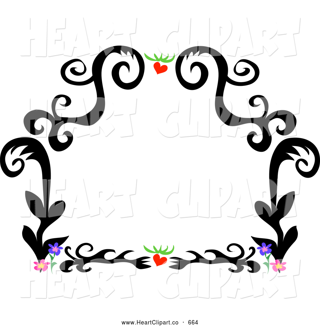 1024x1044 Flower Border Clipart Clip Art Of A Black Tattoo Plant Design