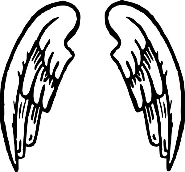 600x560 Angel Wings Tattoo Clip Art Free Vector In Open Office Drawing Svg