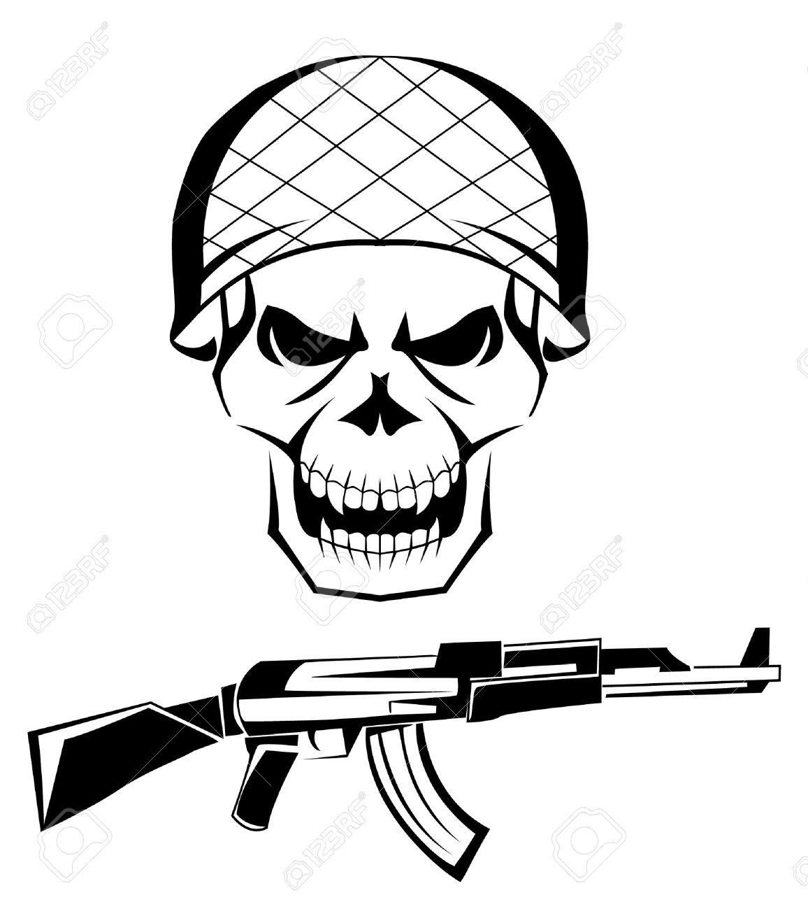 1156x1300 20 Army Skull Tattoo Designs