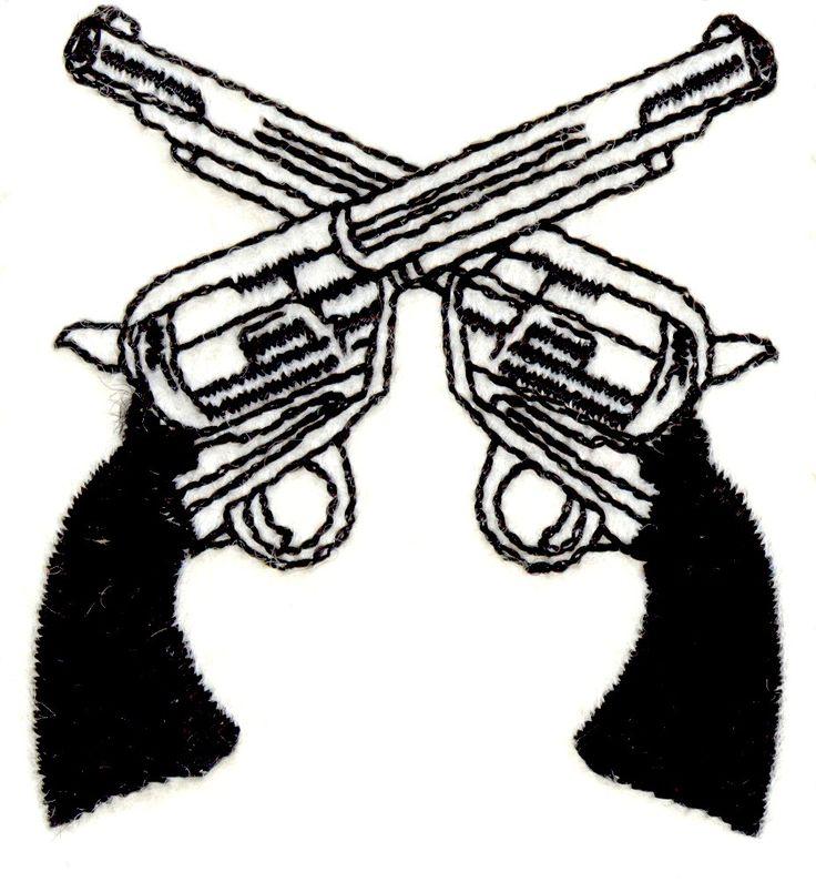 736x795 Pistol Clipart Two Gun
