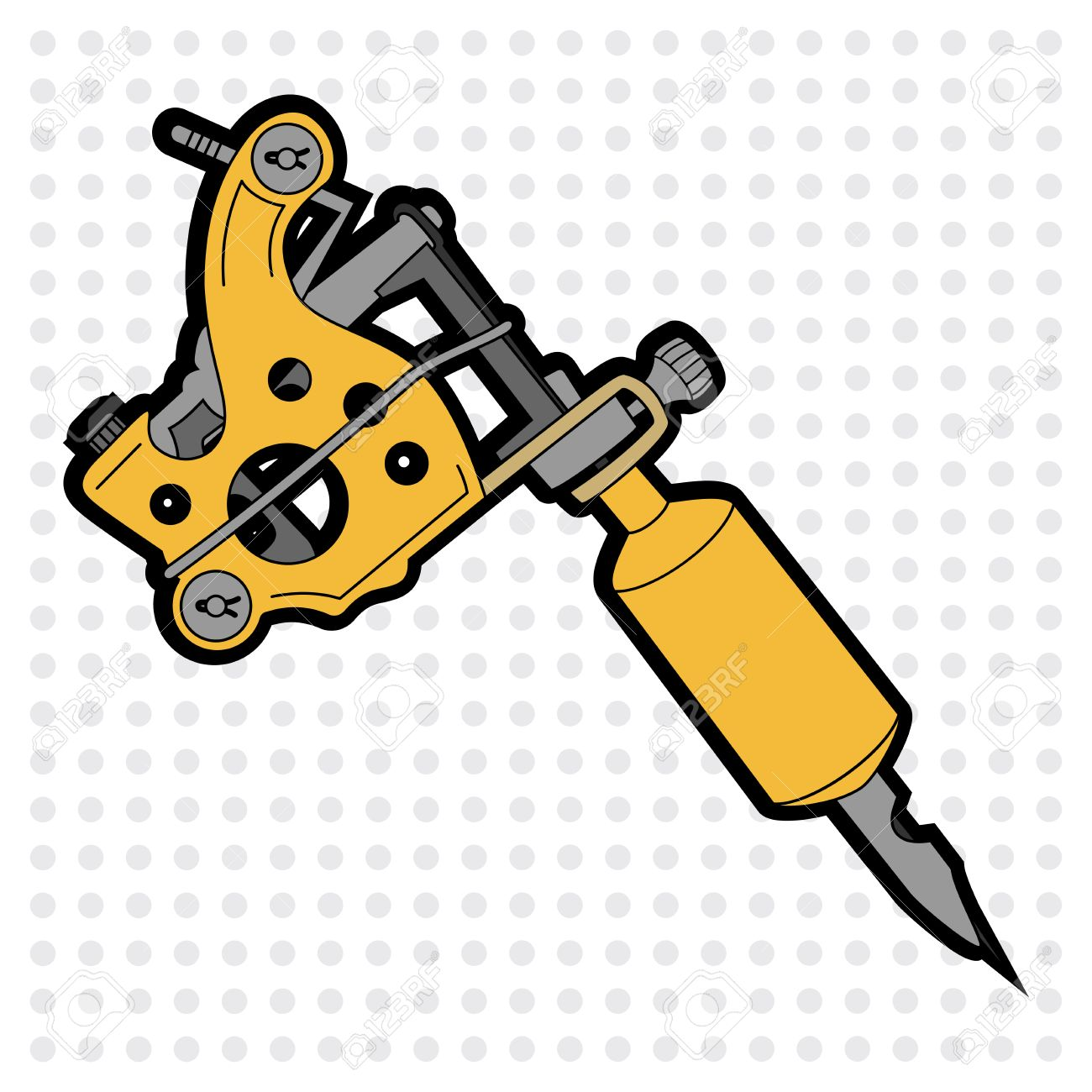 1300x1300 Tattoo Machine Vector Illustration Isolated Royalty Free Cliparts
