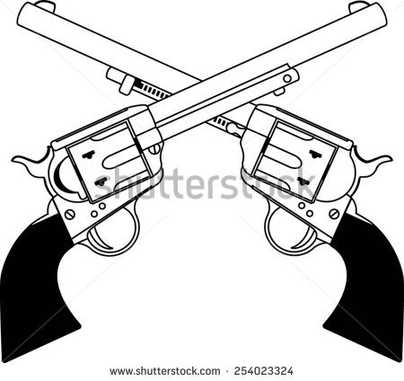 450x424 Weapon Clipart Crossed Gun