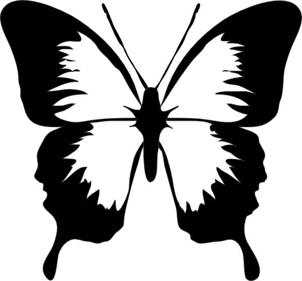 600x559 Butterfly Clip Art Stenciling, Butterfly And Silhouettes