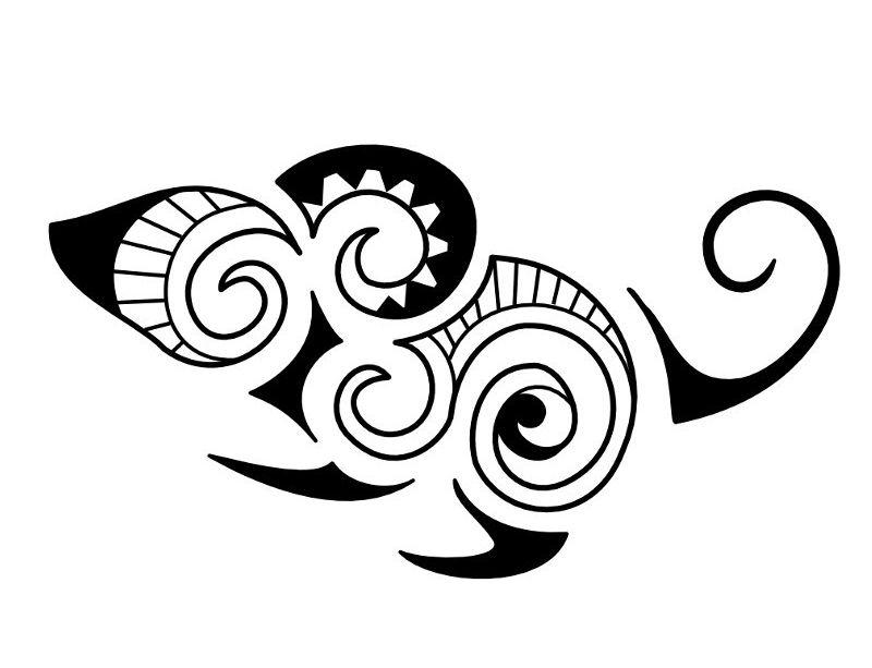 800x613 Black Maori Rat Tattoo Stencil Rats