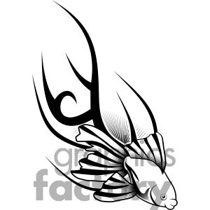 300x300 Fish Tattoo Design 377642 Vector Clip Art Image Illustrations By