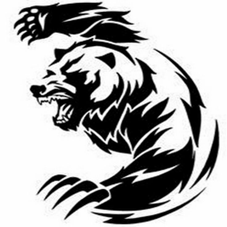 736x736 21 Best Bear Tattoo Stencils Images Artists, Black