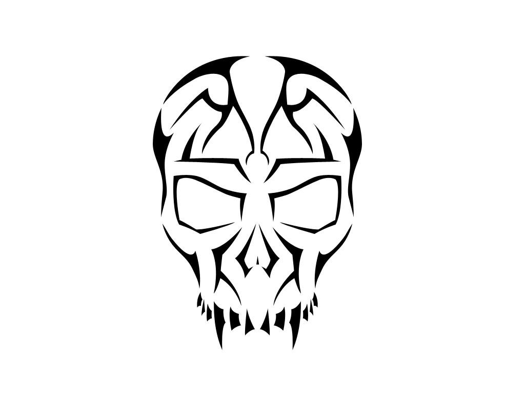 Skull tribal. Tattoos cliparts free download