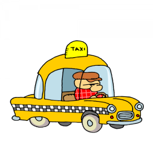 300x300 Clip Art Of Dark Yellow Taxi For Cars Lovers