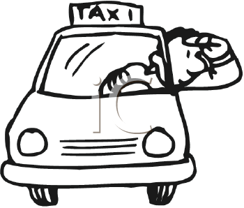 Taxi Clipart Black And White | Free download best Taxi ...