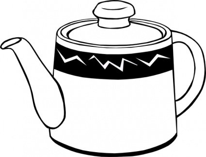425x325 Tea Pot And Cup Clip Art, Vector Tea Pot And Cup