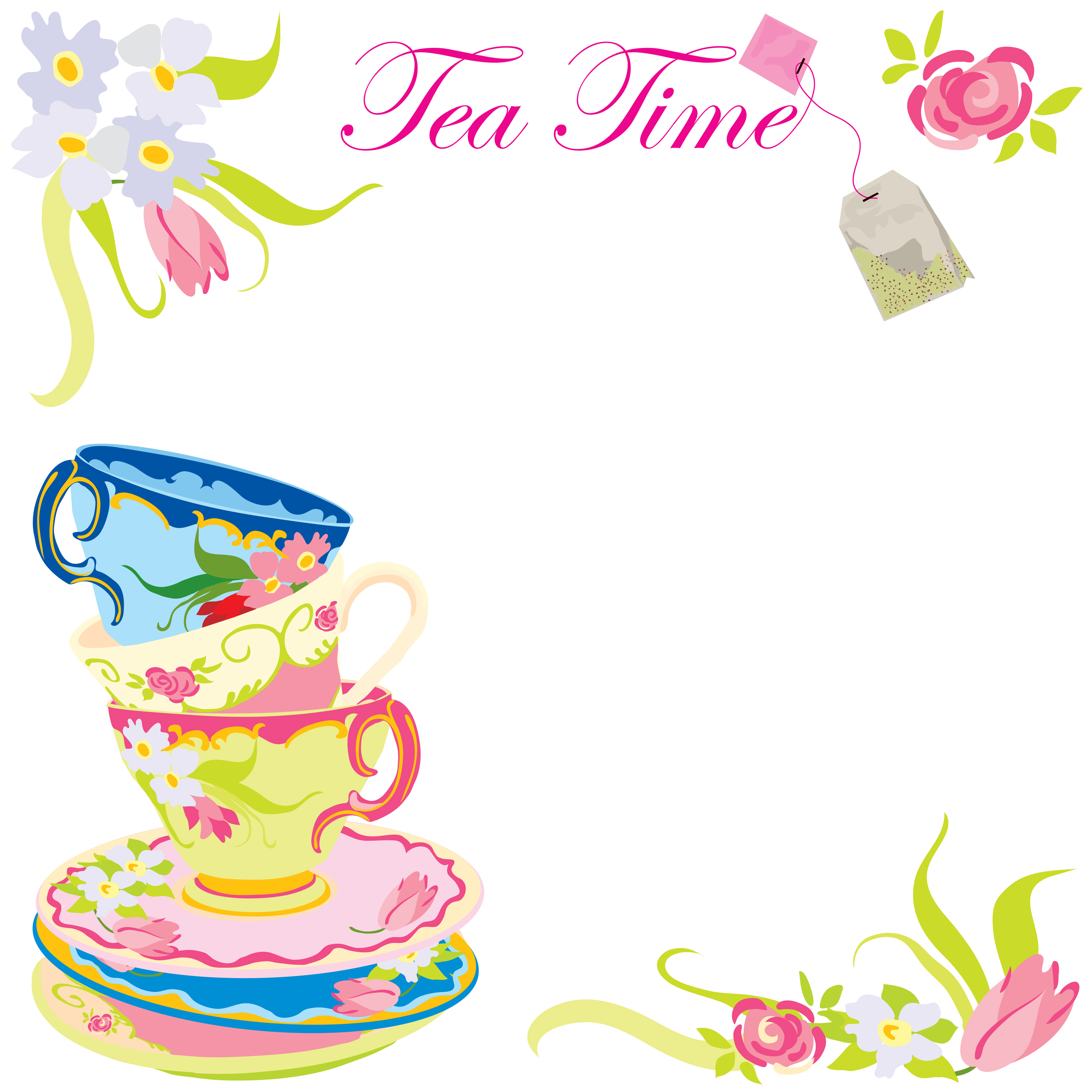 2800x2800 Tea Party Clipart Free Tea