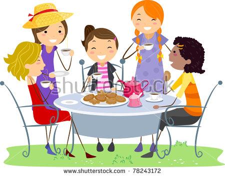 450x355 Tea Party Clipart Garden Party