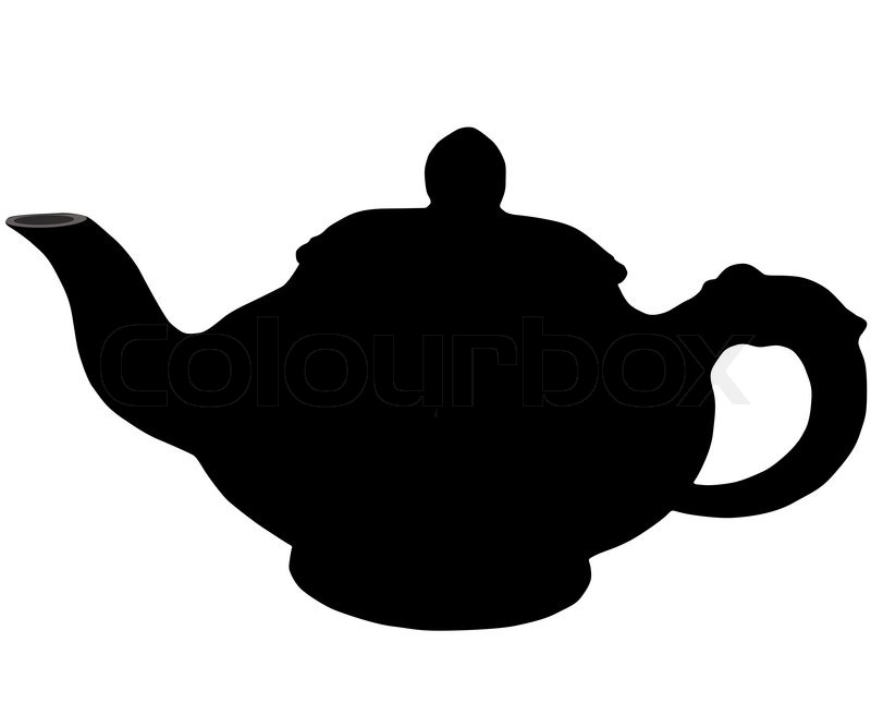 800x667 On White Background, Is Drawn Teapot Stock Vector Colourbox