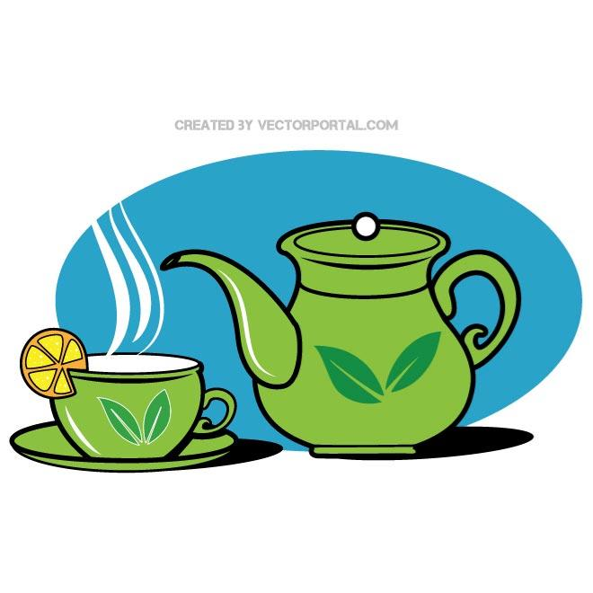 660x660 Teapot And A Cup Vector Graphics