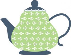 300x233 Teapot Clipart