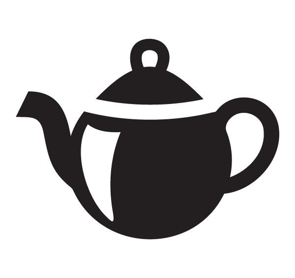 600x564 Teapot Clipart Black And White