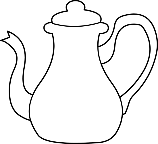550x503 Teapot Clipart Black And White Free Images 5