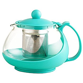 350x350 Stainless Steel Glass Tea Pot Teapot W. Stainless