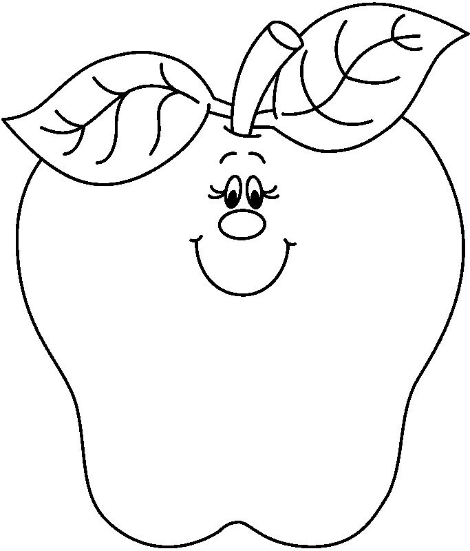 683x800 Teacher Apple Clipart Black And White Letters