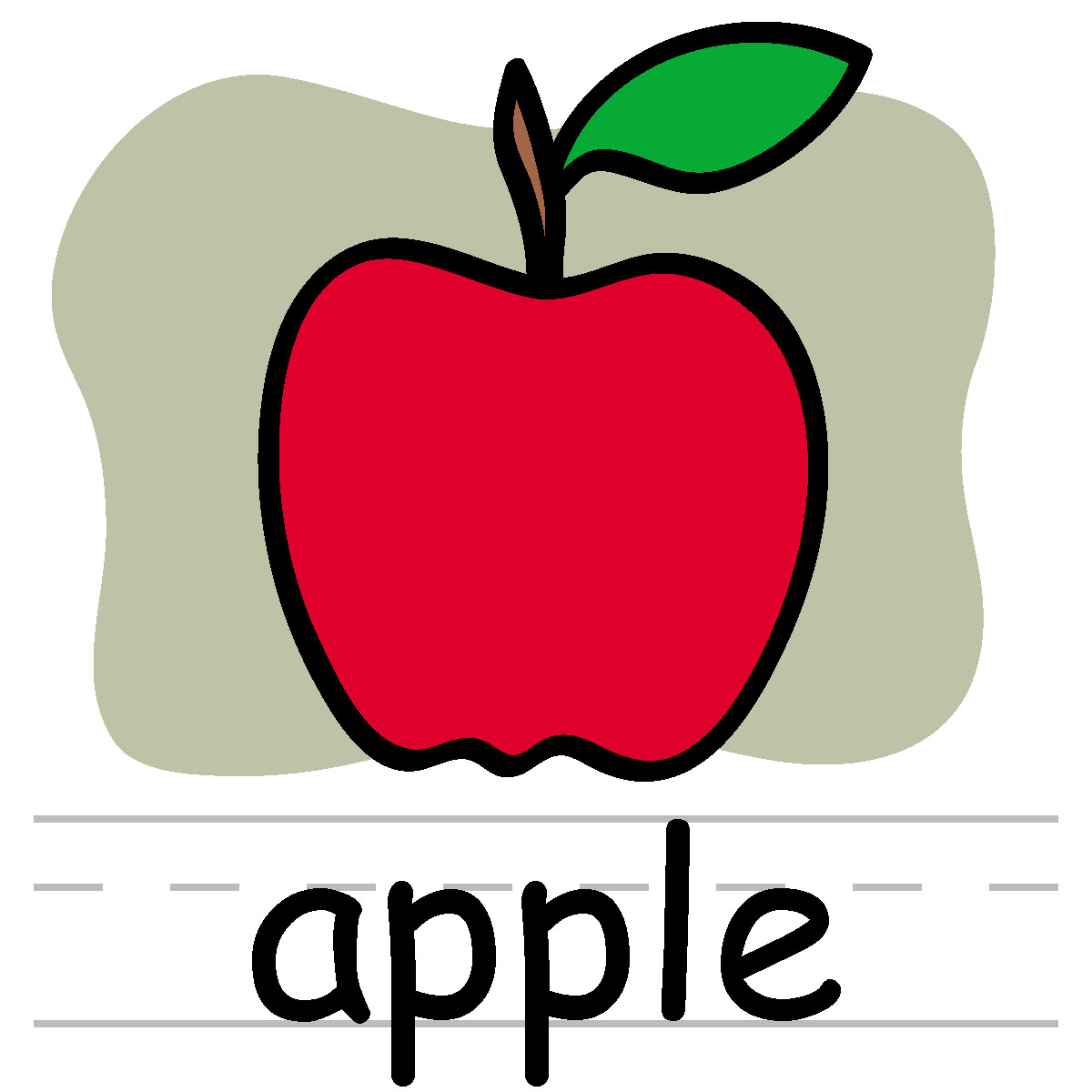 1200x1200 Teacher Apple Clipart