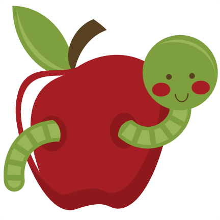 432x432 Worm In Apple Clipart Panda