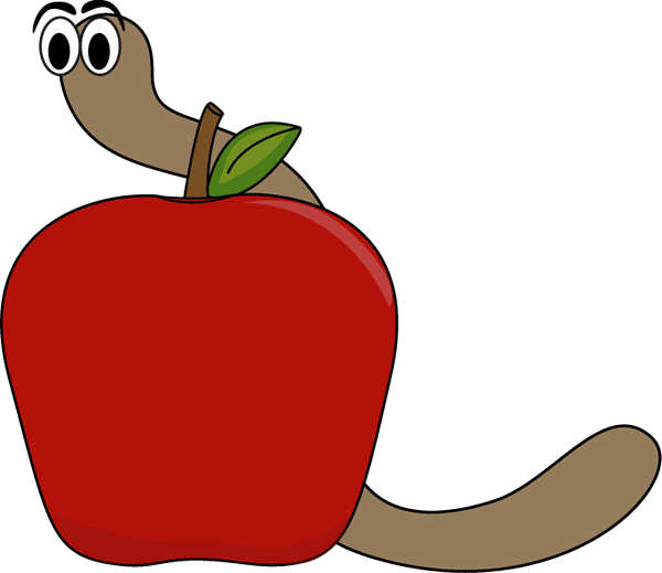 600x519 Apple And Worm Clip Art