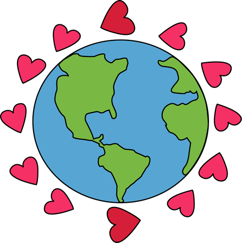 498x500 Love the Earth Clip Art