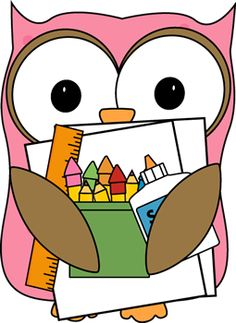 236x323 Owl With Pencil Clipart
