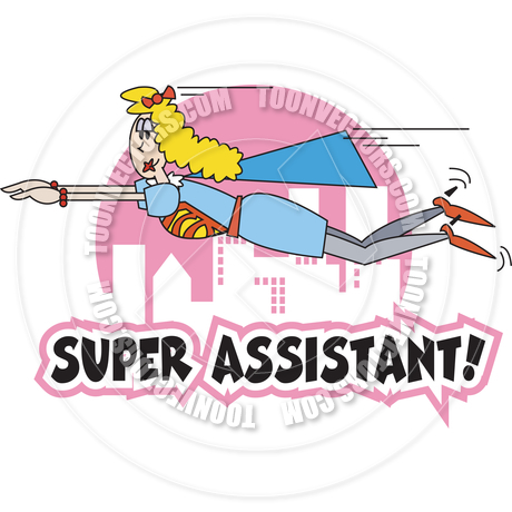 460x460 Cartoon Super Assistant Vector Illustration By Clip Art Guy Toon