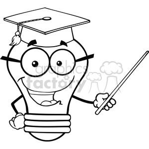 300x300 Royalty Free 6156 Royalty Free Clip Art Smiling Light Bulb Teacher