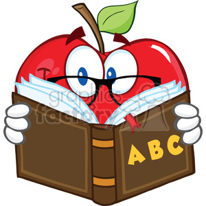 300x300 Royalty Free 6523 Royalty Free Clip Art Smiling Apple Teacher