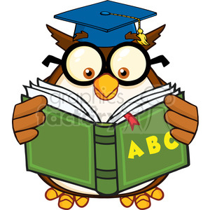 300x300 Royalty Free Royalty Free Rf Clipart Illustration Wise Owl Teacher