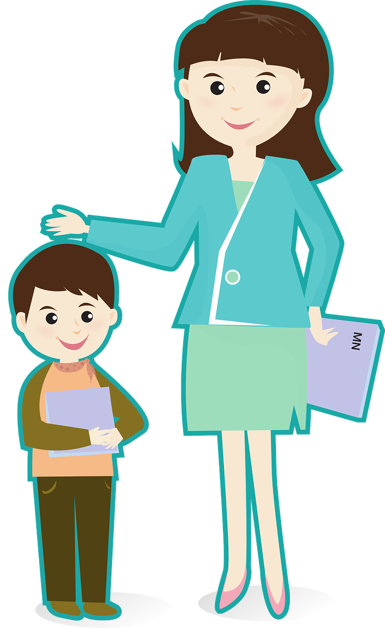 784x1280 Teacher And Students Clipart