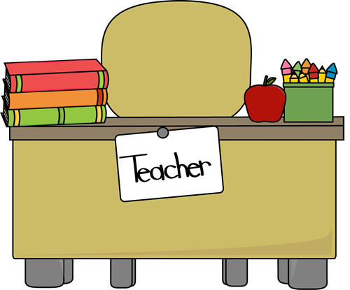 500x415 Teacher's Desk Clip Art