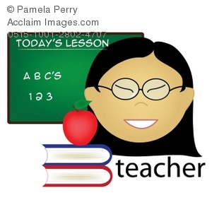 300x300 Art Illustration Of An Asian Female Teacher Occupation Icon