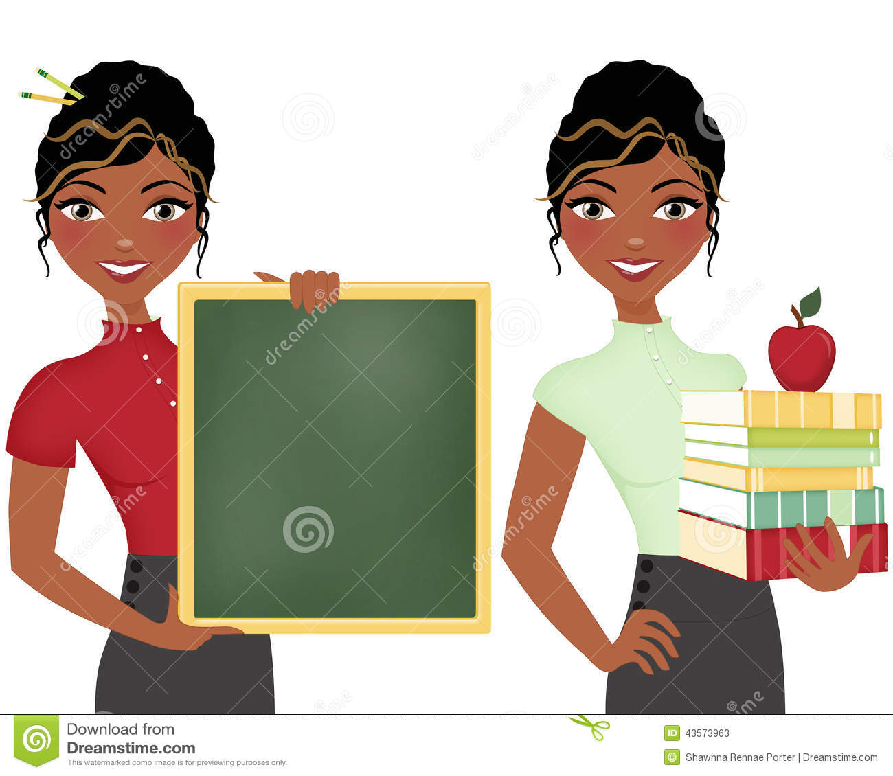1300x1130 Black Hair Clipart Teacher