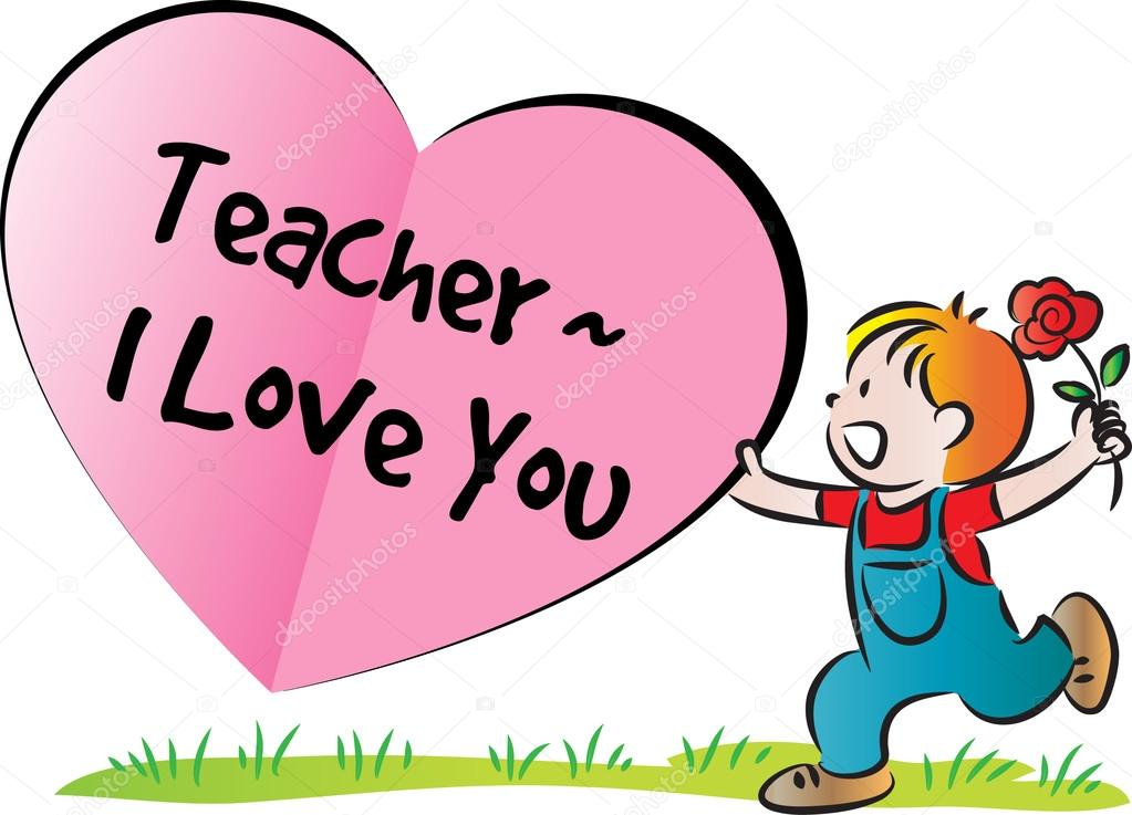 1023x737 Cartoon tekening gelukkig teachers#39day kaart — Stockfoto © wenpei