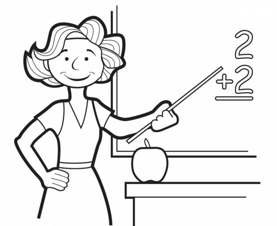 945x771 Download Coloring Pages Teacher Coloring Pages Best Teacher