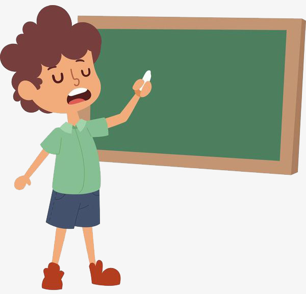 600x577 A Lecturer Who Explains Knowledge, Cartoon Hand Drawing, Teacher