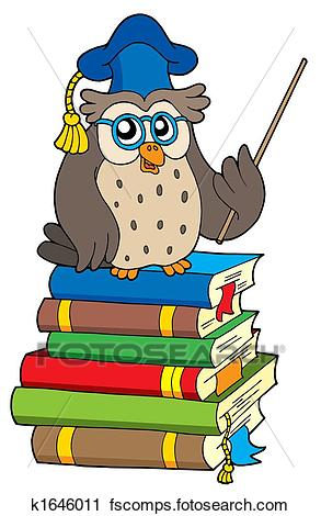 293x470 Clipart Of Owl Teacher And Books K1646011