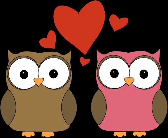 576x472 Owl Love Clip Art Image
