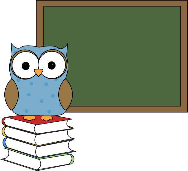 603x548 Polka Dot Owl With Chalkboard Clip Art